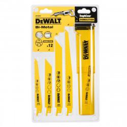 Coffret 12 lames de scie sabre pour le bois, le métal et la démolition DeWALT DT2441