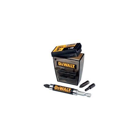 Embouts de vissage IMPACT en boite Tic-Tac + 1 Porte embout magnétique compact DeWALT DT70522