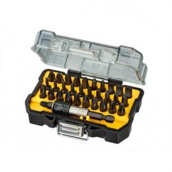 Coffret 32 pièces avec embouts de vissage IMPACT et porte-embouts à blocage DeWALT DT70523