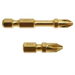 Embouts Impact Gold Torsion à tête ''Enduro Spécial Métal'' PHILLIPS 50 mm Makita B-28313