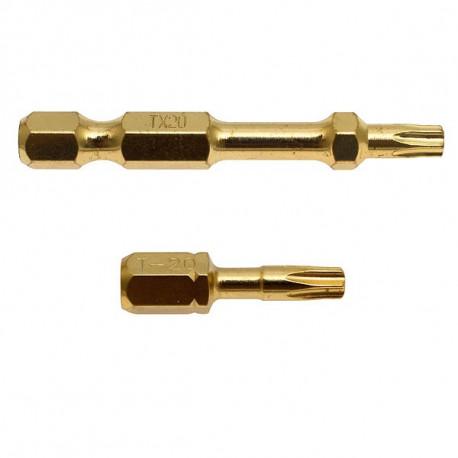 Embouts Impact Gold Torsion TORX T25 50 mm Makita B-28254