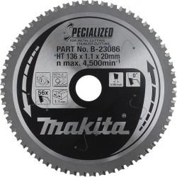Lame carbure HAUTE RESISTANCE pour métaux Ø 185 mm 56D Makita B-23363