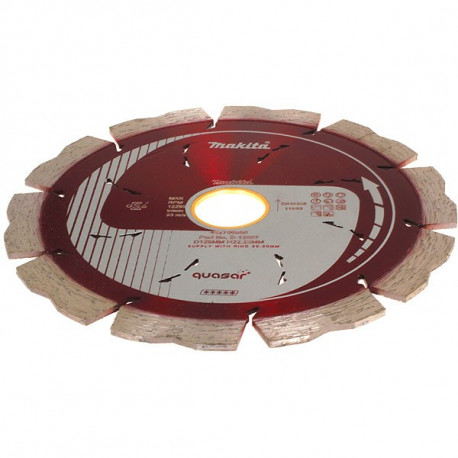 Disque diamant QUASAR à refroidissement 125 mm segment 10 mm Makita B-12697