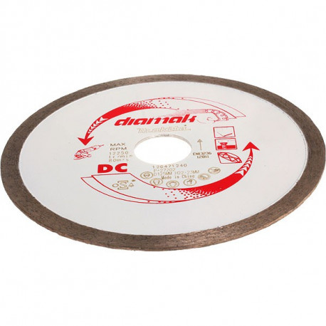 Disque diamant DIAMAK-JANTE CONTINUE 125 mm segment 7 mm Makita P-27202