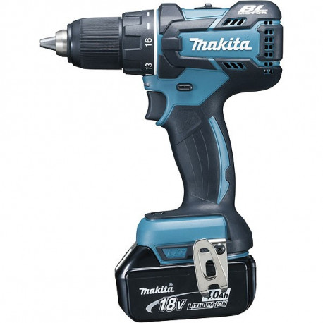 Perceuse visseuse sans fil Makita 18V Li-ion 2x4Ah Ø13 mm - DDF480RMJ