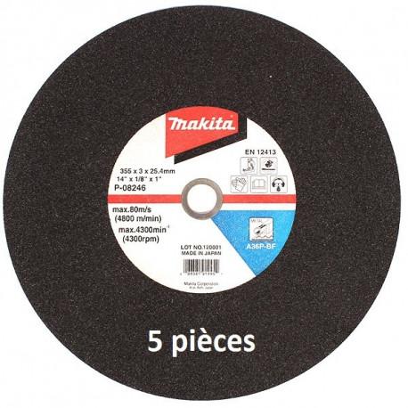 Disques à tronçonner métal pour scie à coupe d'onglet à métaux Makita B-10665-5