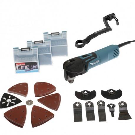 Découpeur-ponceur multifonctions Makita 320W + kit d'accessoires - TM3010CX3J