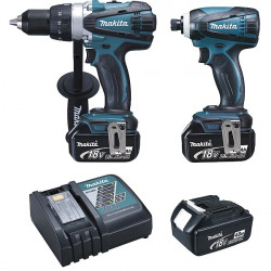 Ensemble de 2 machines 18 V Li-Ion 4 Ah (DDF458 + DTD146) Makita DLX2015MJX
