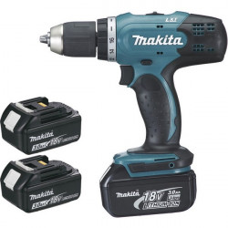 Perceuse visseuse sans fil Makita 18V Li-Ion 3x3Ah Ø13mm - DDF453SFE3