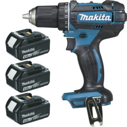 Perceuse visseuse sans fil Makita 18V Li-Ion 3x4Ah Ø13mm - DDF482RM3J