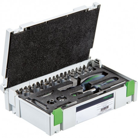 """Systainer de clés à cliquets 1/4""""-CE RA-SET 37 Festool 497881"""