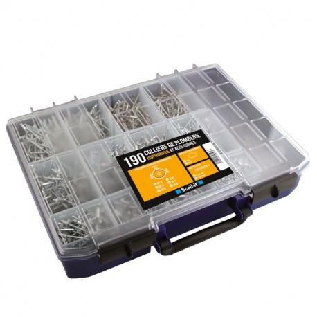 Coffret 190 colliers de plomberie isophoniques et accessoires Scell It