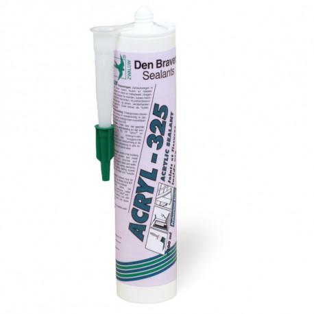 Mastic acrylique pour joints et fissures Acryl 325 Den Braven