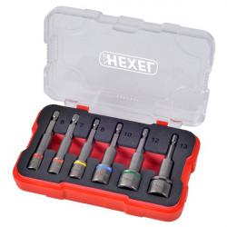 Coffret de douilles magnétiques 6 pièces HEXEL DMS6
