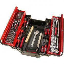 Caisse à outils complète 131 pièces HEXEL M131