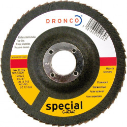 Dronco - 10 disques à lamelle Ø125mm grain 40 à 80 G-AZ A