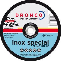 Dronco - Disque à tronçonner Ø115 ou Ø125mm spécial inox AS 46 T