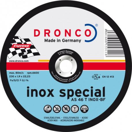 Dronco - Disque à tronçonner Ø115mm spécial inox AS 46 T