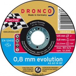 Dronco - Disque à tronçonner Ø125mm AS 60 W