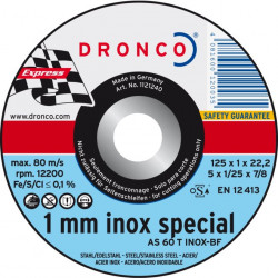 Dronco - Disque à tronçonner Ø125mm AS 60 T Inox