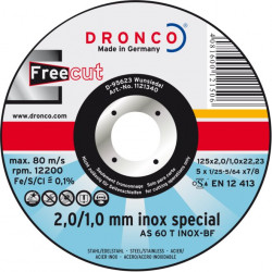 Dronco - Disque à tronçonner Ø125mm AS 46 / AS 60 T