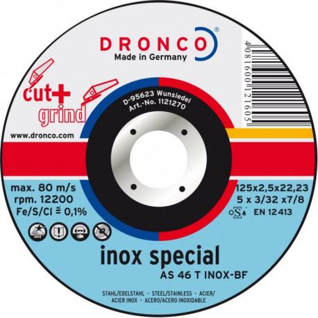 Dronco - Disque à tronçonner Ø125mm AS46 / AS 30 T Inox