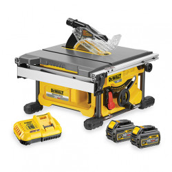 Scie à table 210mm sans fil DeWALT 54V XR FlexVolt DCS7485T2