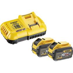 Pack de démarrage DeWALT FlexVolt 2 batteries 54V/18V 9Ah + chargeur rapide DCB118X2