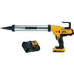 Pistolet à mastic pour cartouche 310ml et sachet max 600ml sans fil DeWALT 18V Li-Ion 2Ah DCE580D1