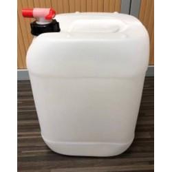 Jerrican contact alimentaire 20 litres avec bouchon robinet