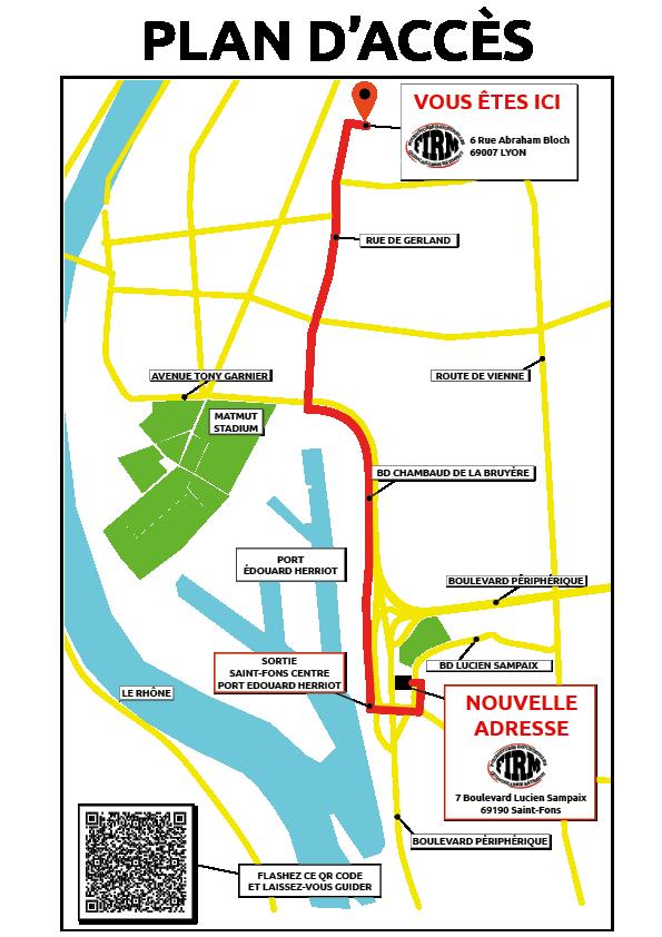 Plan d'accès nouveaux locaux FIRM