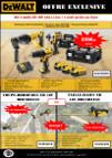 Kit 3 outils sans fil 18V Li-Ion 4Ah Dewalt - 1 outil jardin offert