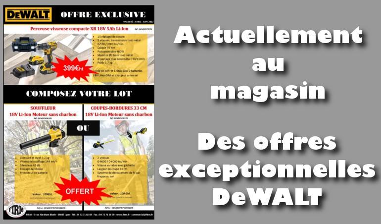 Offre exceptionnelle DeWALT